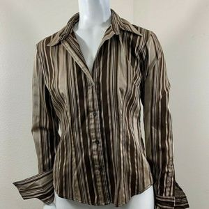 New York And Company Long Sleeve Blouse Shirt XS
